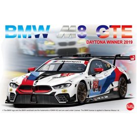 NuNu Model Kit NuNu - BMW M8 GTE 2019 24 Hours of Daytona Winner - 1:24
