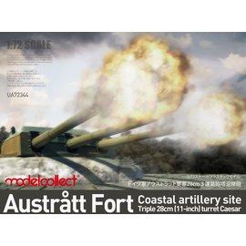 Modelcollect Modelcollect - Austrått fort coastal artillery site triple 28cm turret Caesar - 1:72
