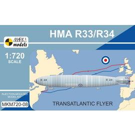 "Mark I. Mark I. - HMA R33/R34 (Armstrong Whitworth R33/Beardmore R34) ""Transatlantic Flyer"" - 1:720"