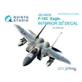 Quinta Studio Quinta Studio - F-15C 3D-Printed & coloured Interior on decal paper (for GWH kit) - 1:48