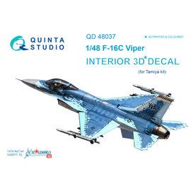 Quinta Studio Quinta Studio - F-16С 3D-Printed & coloured Interior on decal paper (for Tamiya kit) - 1:48