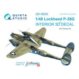 Quinta Studio Quinta Studio - P-38G 3D-Printed & coloured Interior on decal paper (for Tamiya kit) - 1:48