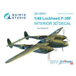 Quinta Studio Quinta Studio - P-38F 3D-Printed & coloured Interior on decal paper (for Tamiya kit) - 1:48