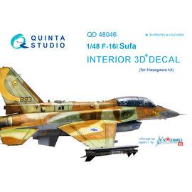 Quinta Studio Quinta Studio - F-16I 3D-Printed & coloured Interior on decal paper (for Hasegawa kit) - 1:48