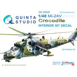 Quinta Studio Quinta Studio - Mi-24V 3D-Printed & coloured Interior on decal paper (for Zvezda kit) - 1:48