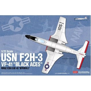 """Academy McDonnell F2H-3 Banshee - VF-41 """"Black Aces"""" - 1:72"""