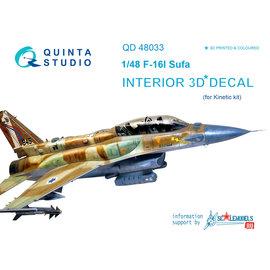 Quinta Studio Quinta Studio - F-16I 3D-Printed & coloured Interior on decal paper (for Kinetic kit) - 1:48