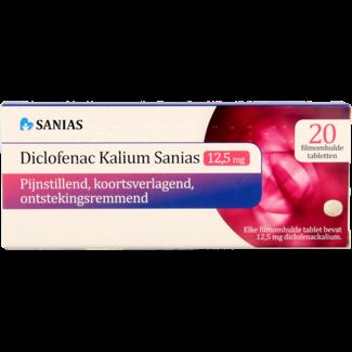 DA + Mooi Fredriek Sanias Diclofenac Kalium 12.5mg 20st