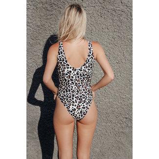 Lily Fashion AUBREE LEOPARD SWIMSUIT 6005