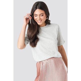 Lily Fashion 1018-003417 HIGH NECK ROUND TEE | light grey
