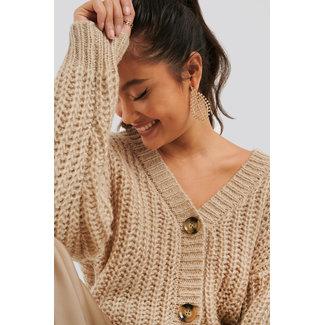 Lily Fashion Short Cardigan 1100-002411 | beige