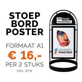 Drukkerij Ponsteen Stoep Bord Poster