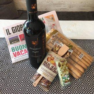 Renata Delicatessen & Zo Italiaans pakket met wijn