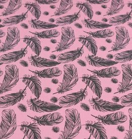 100x150 cm cotton jersey feathers old pink