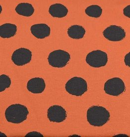 100x150 cm cotton jersey dots brick