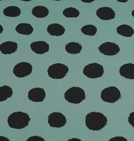 100x150 cm cotton jersey dots old green