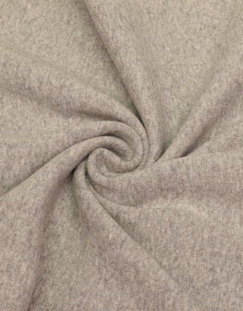 Coupon 50x70 cm boordstof grijs melange