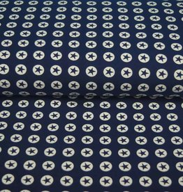 100x150 CM katoen tricot ster/cirkel marine