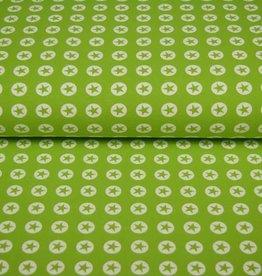 100x150 CM katoen tricot ster/cirkel kiwi