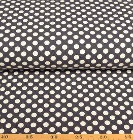 100x150 CM cotton jersey dots dark grey