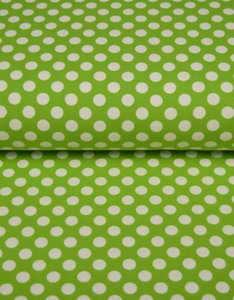 100x150 CM cotton jersey dots kiwi