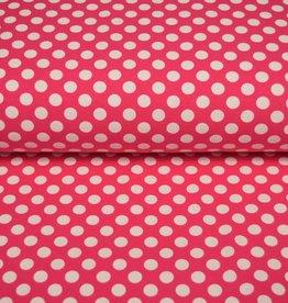 100x150 CM katoen tricot stippen pink