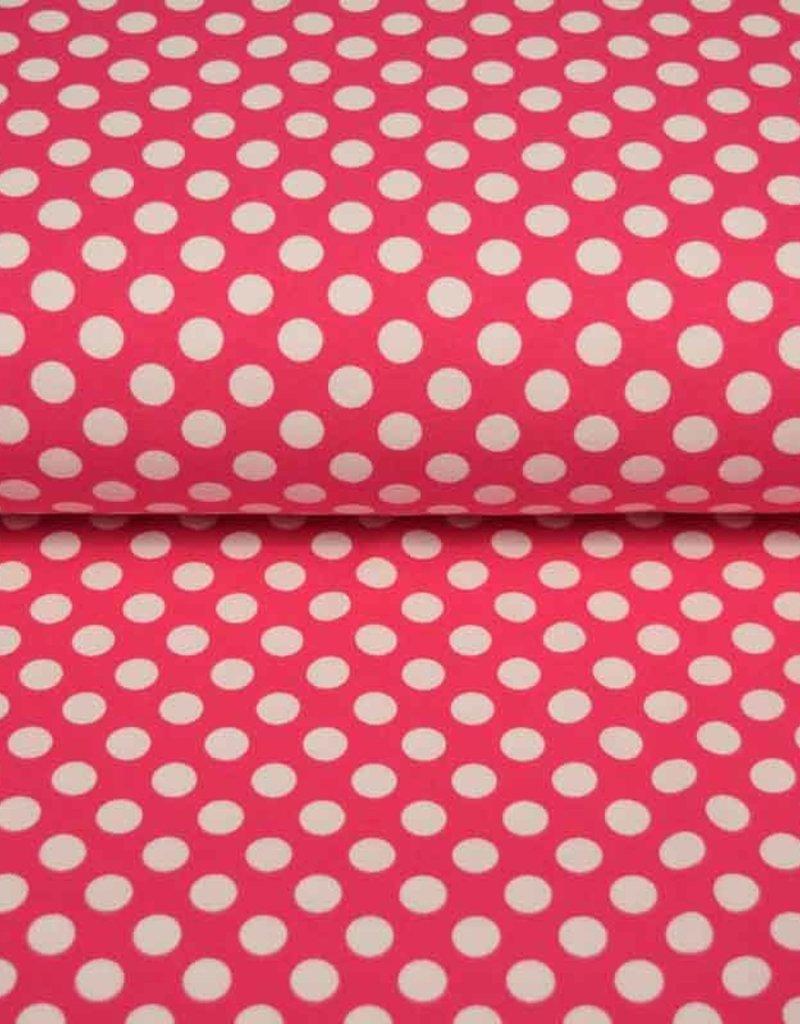 100x150 CM Baumwolljersey Punkte pink