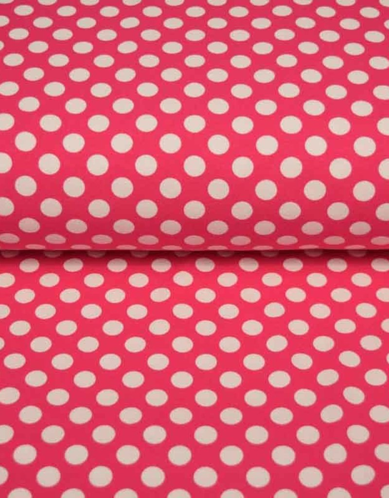 100x150 CM cotton jersey dots pink