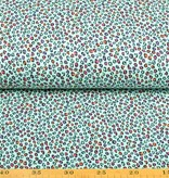 100x150 CM cotton jersey leopard light mint