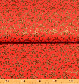 50x140 cm. cotton christmas krans red