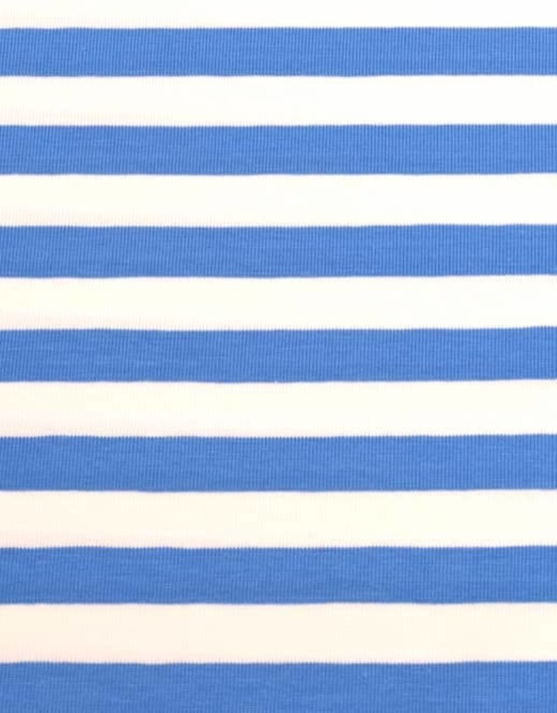 100x150 cm cotton jersey striped 10mm aqua/white
