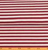 100x150 cm cotton jersey striped 10mm wine-red/white