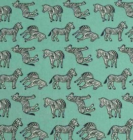 50x140 cm cotton zebras petrol green