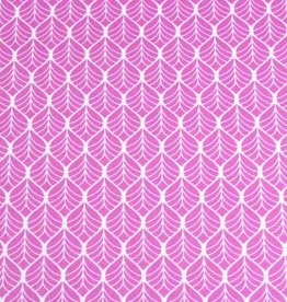 50x140 cm cotton leaves pink