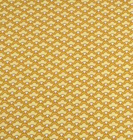 50x140 cm cotton scales abstract ocher