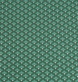 50x140 cm cotton scales abstract dark green