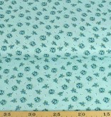 50x140 cm cotton flowers mint