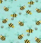 50x140 cm cotton bees mint