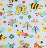 50x140 cm cotton insects light grey