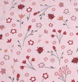 50x140 cm Baumwolle Blumen und Marienkäfer hellrosa