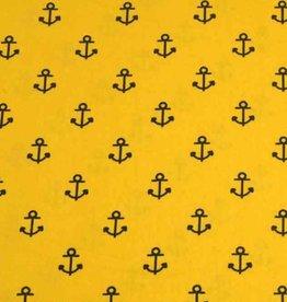 50x140 cm cotton anchors ocher