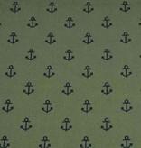 50x140 cm Baumwolle Anker kahki grün