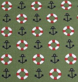 50x140 cm cotton maritime kahki green