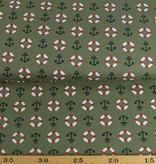 50x140 cm Baumwolle Maritim kahki grün