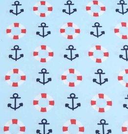 50x140 cm cotton maritime light blue