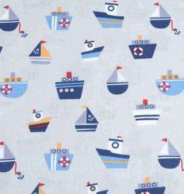 50x140 cm cotton boats light grey