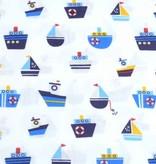 50x140 cm cotton boats white