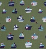 50x140 cm Baumwolle Boote kahki grün