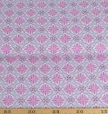 50x140 cm cotton abstract khaki light grey/pink
