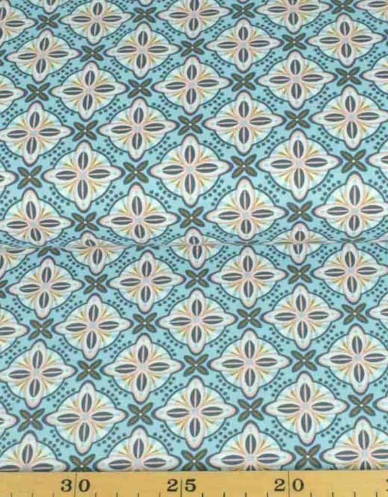 50x140 cm Baumwolle Abstrakt hellblau/mint